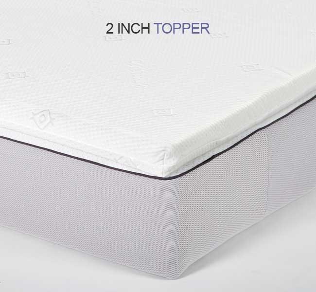 small single airflow Memory Foam Mattress Topper - 2 inch