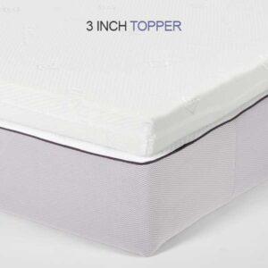 small single airflow Memory Foam Mattress Topper - 3 inch