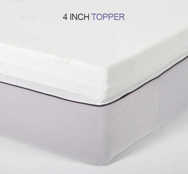 Small single Airflow Memory Foam Mattress Topper - 4 inch